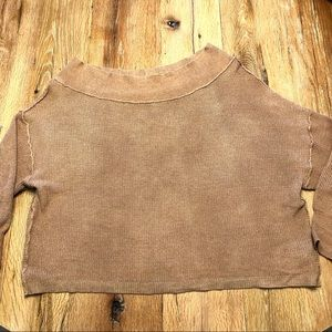 Free People off the shoulder sweater size M